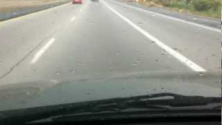 Part 1- Torrential downpour on our way to Las Vegas, Nevada.MOV