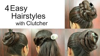 4 Attractive Hairstyles by using Clutcher   Hairstyles for medium or long hair