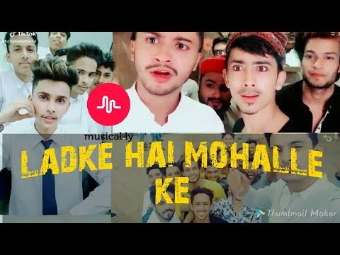 Musical.ly Compilation - Ladke hai mohalle ke | Shaitan meri Laila | Adnaan, hasnain khan, saddu