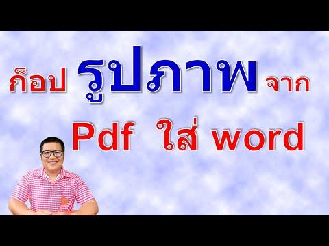 เคล็ดลับการคัดลอกรูปจาก pdf ลงใน word | how to copy image from pdf to  word