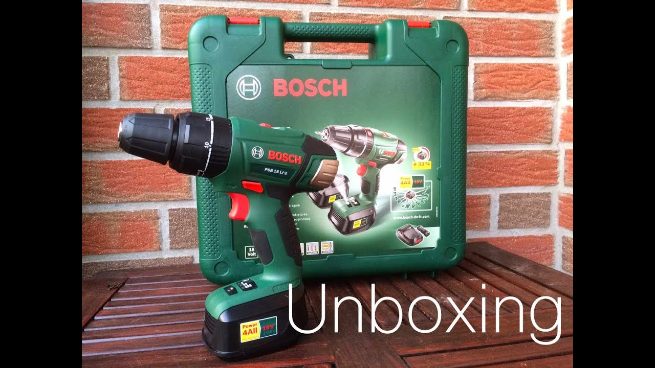 unboxing bosch psb 18 li 2 youtube. Black Bedroom Furniture Sets. Home Design Ideas