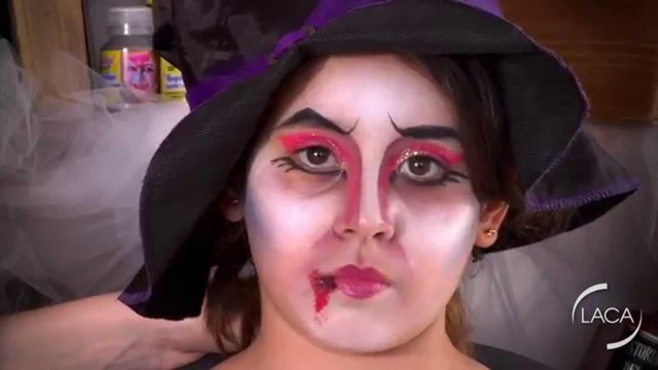 Maquillaje Artistico Infantil Halloween Bruja Youtube - Maquillaje-infantil-de-bruja