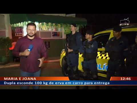 DF ALERTA - Dupla esconde 100 kg de erva em carro para entrega