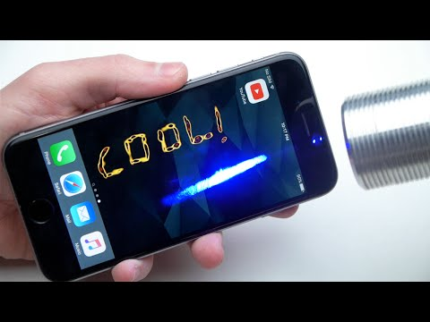Drawing on an iPhone 6S with a Laser!