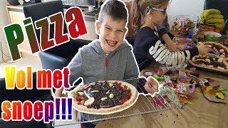 PIZZA MET SNOEP MAKEN - KOETKITCHEN MET PAPA!!! - KOETLIFE VLOG