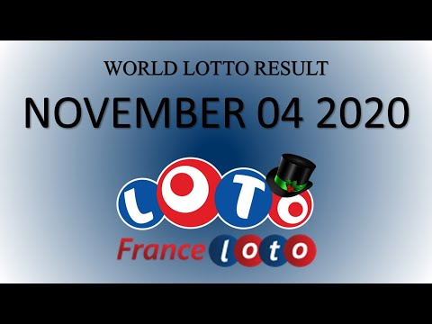 FranceLOTO NOVEMBER 04 2020 |04/11/2020 | World Lotto Result | France LOTO Jackpot Result