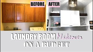 WE REMODELED OUR LAUNDRY ROOM (DIY Laundry Room Makeover on a budget)