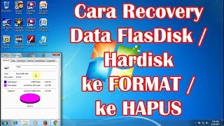 Cara Mengembalikan Data Sudah Diformat, Dihapus, Recovery Data FlasDisk, Hardisk HD