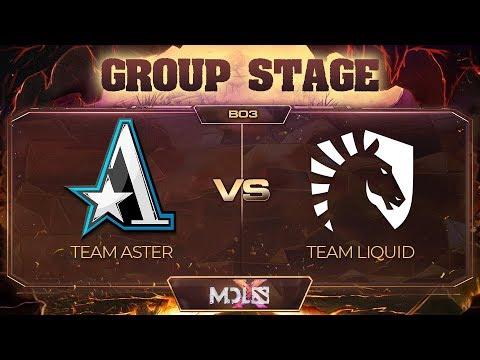 Team Aster vs Team Liquid vod