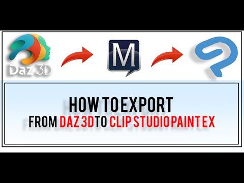 How To Import 3D models into Clip Studio from Daz 3D Studio : ClipStudio