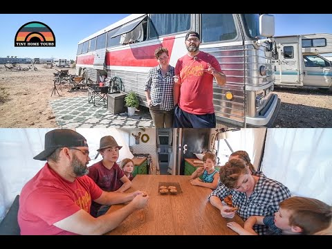 Family Of 8 Downsizes To A DIY Bus Conversion For A More Fulfilling Life On The Road