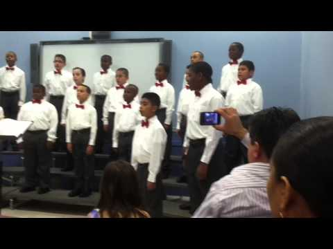 Newark Boys Chorus School: Apprentice Chorus -  December `12 dress rehearsal  part 2