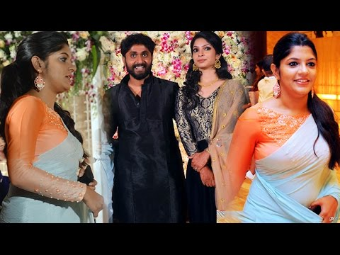 Aparna Balamurali In Saree At Dhyan Sreenivasan Wedding Weds Arpita