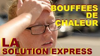 Bouffées De Chaleur Ménopause :  Massage Du Visage Express Miracle. Bluffant !
