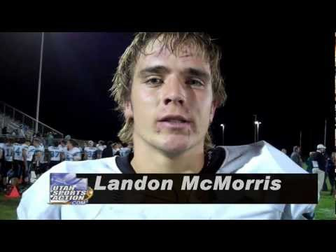 Prep Football: Landon McMorris (West Jordan Jaguars) post-game interview 10-05-12.