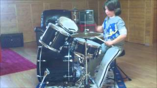 ANGELOS GIORKAS (7 YEARS OLD) PLAYING DRUMS