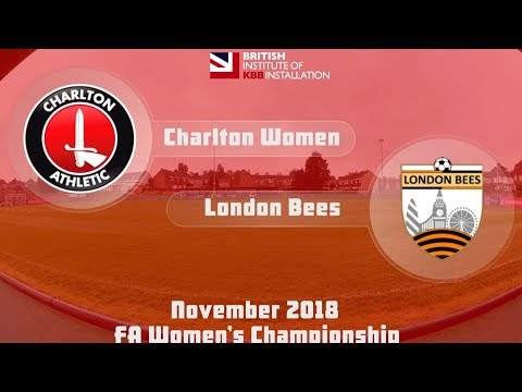 WOMEN'S HIGHLIGHTS   Charlton 2 London Bees 0 (Nov 2018)