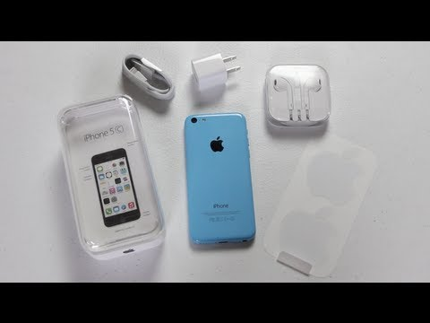 iPhone 5C Unboxing & First Impressions (Blue) - YouTube