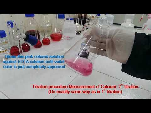 03) Measurement Of Total Hardness, Ca And Mg In Water - EDTA Titrimetric Method (Procedure) Part II