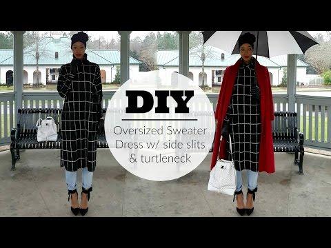 Nadira037 | DIY | Turtle Neck Over-sized Sweater Dress