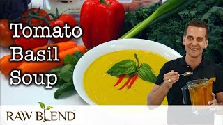 How to Make Hot Soup (Tomato Basil Recipe) in a Vitamix 5200 Blender by Raw Blend