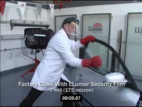 Llumar Window Film Smash Amp Grab Lab Test Youtube