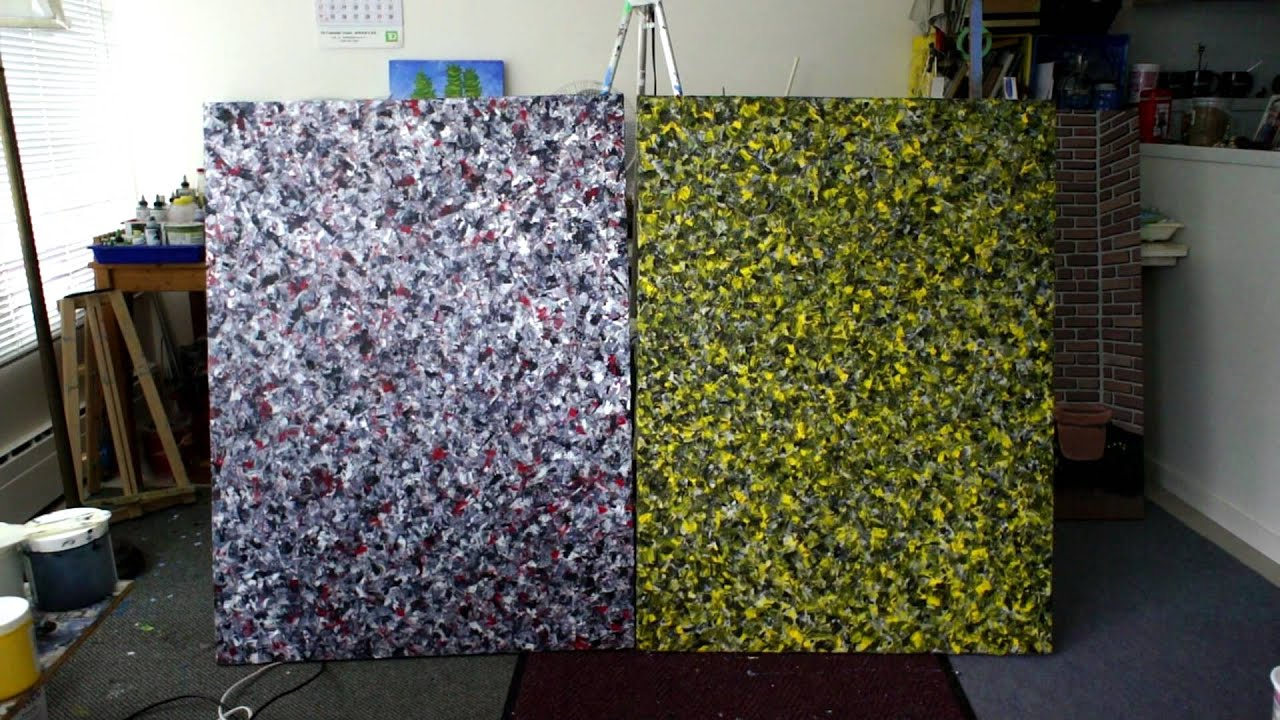 Acrylic Modeling Paste Paintings