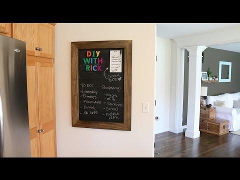 DIY Magnetic Chalkboard Frame