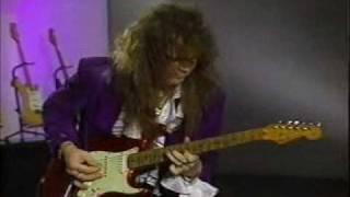 "J. Yngwie Malmsteen playes solo part of ""Demon driver"""