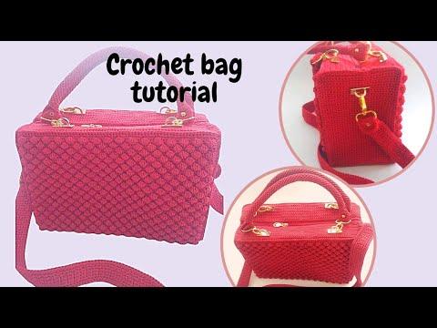 Crochet || Belajar merajut || membuat alas teknik Sc bolak balik part 1 || back bumb