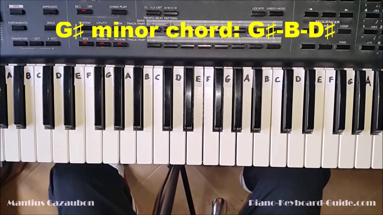 How to play the g sharp minor chord g minor on piano and how to play the g sharp minor chord g minor on piano and keyboard gm gmin youtube hexwebz Choice Image