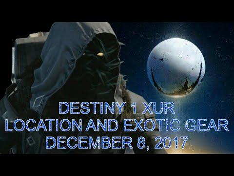 Destiny 1 xur location December 8 2017 exotic weapon armor ornaments Jade Rabbit