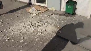 В центре Екатеринбурга прошёл каменный дождь
