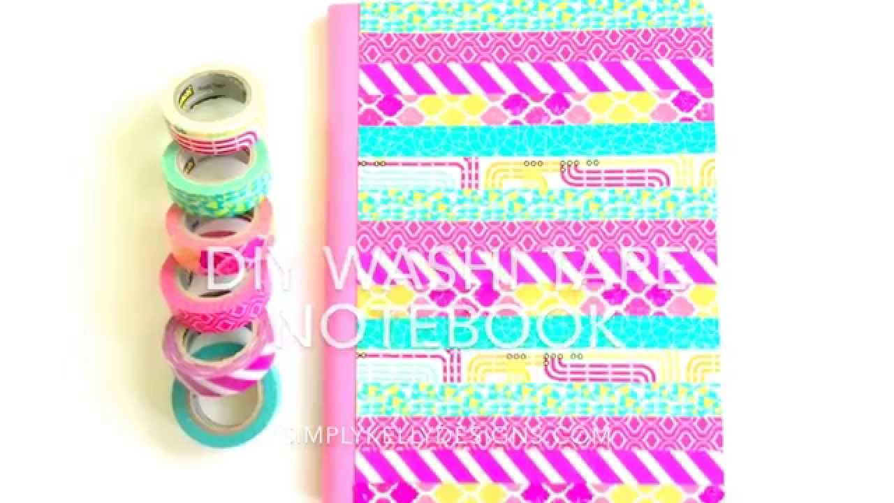 Vibrant Diy Washi Tape Composition Book Youtube