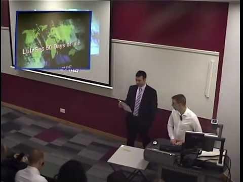 Ryan Ackroyd's Talk at Sheffield Hallam University