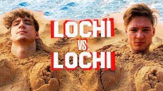 Aushalten: Im Sand eingegraben - Lochi vs Lochi