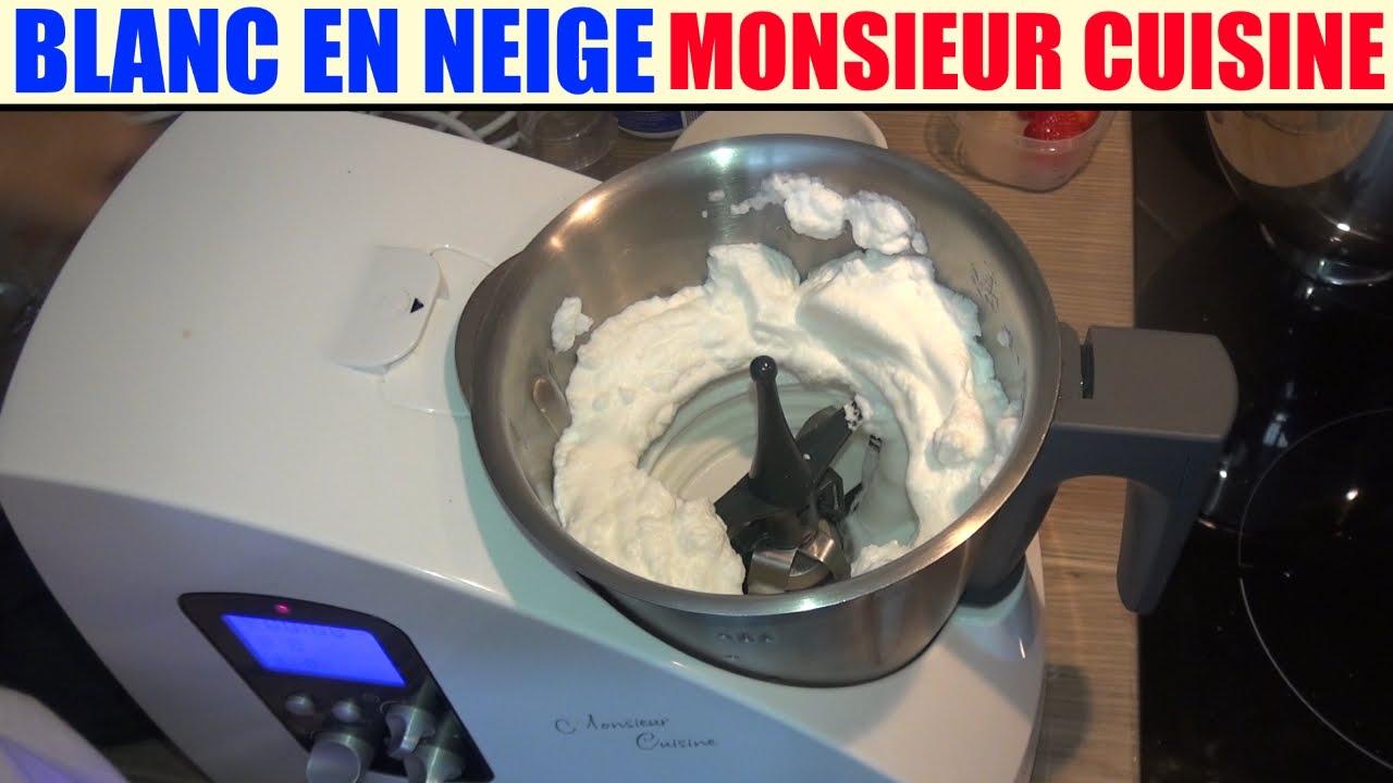 blanc en neige recette monsieur cuisine silvercrest lidl egg white claras a punto de nieve youtube. Black Bedroom Furniture Sets. Home Design Ideas