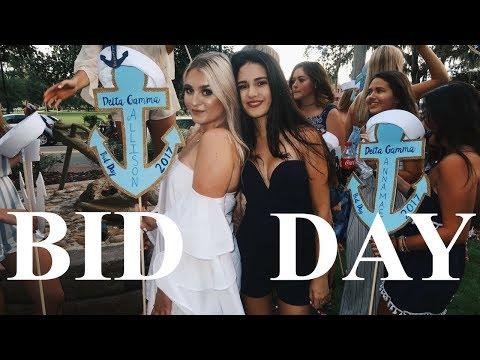 SORORITY BID DAY 2017 VLOG AT THE UNIVERSITY OF FLORIDA