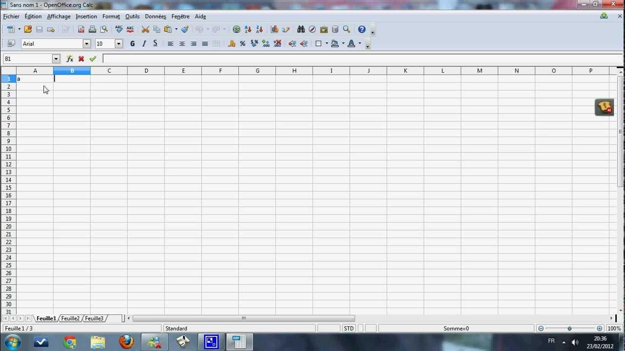 comment cr u00e9e un graphique sur open office