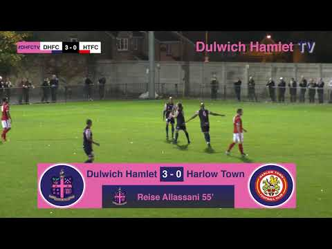 Dulwich Hamlet 4-0 Harlow Town, Bostik League Premier Division, 17/10/17 | Match Highlights