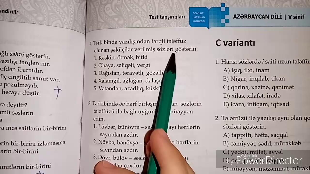 Azərbaycan dili 5 ci sinif DİM cavabları(B variantı səhifə 146-147)