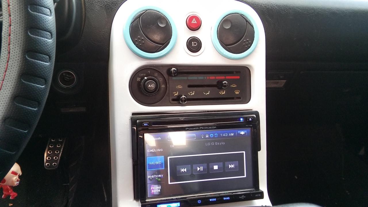 na miata radio and door speakers installation