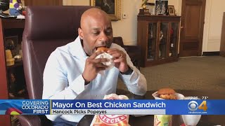 Denver Mayor Michael Hancock Takes Chicken Sandwich Challenge