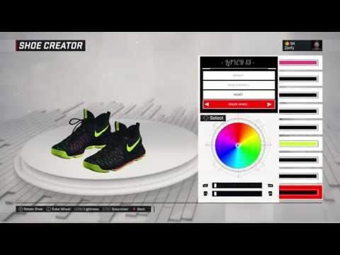 huge selection of 2a57d 82625 NBA 2K17 Shoe Creator - Nike KD 9  Unlimited