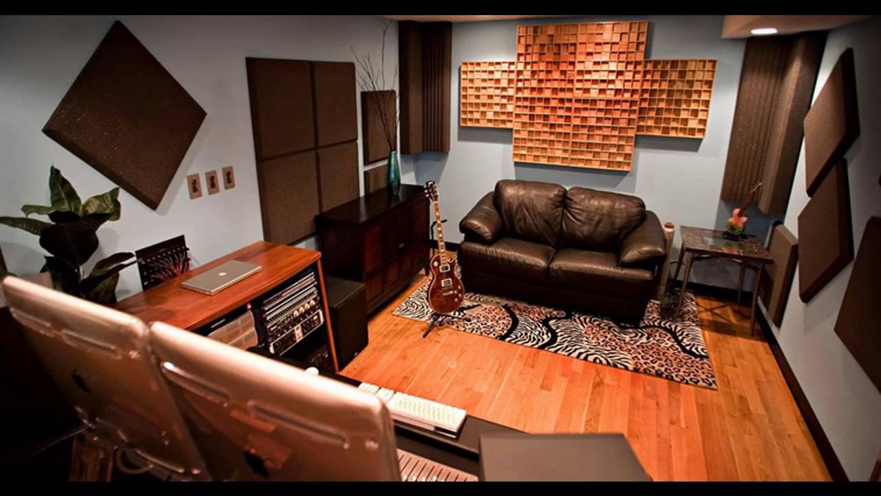 Home recording studio design decorating ideas - YouTube