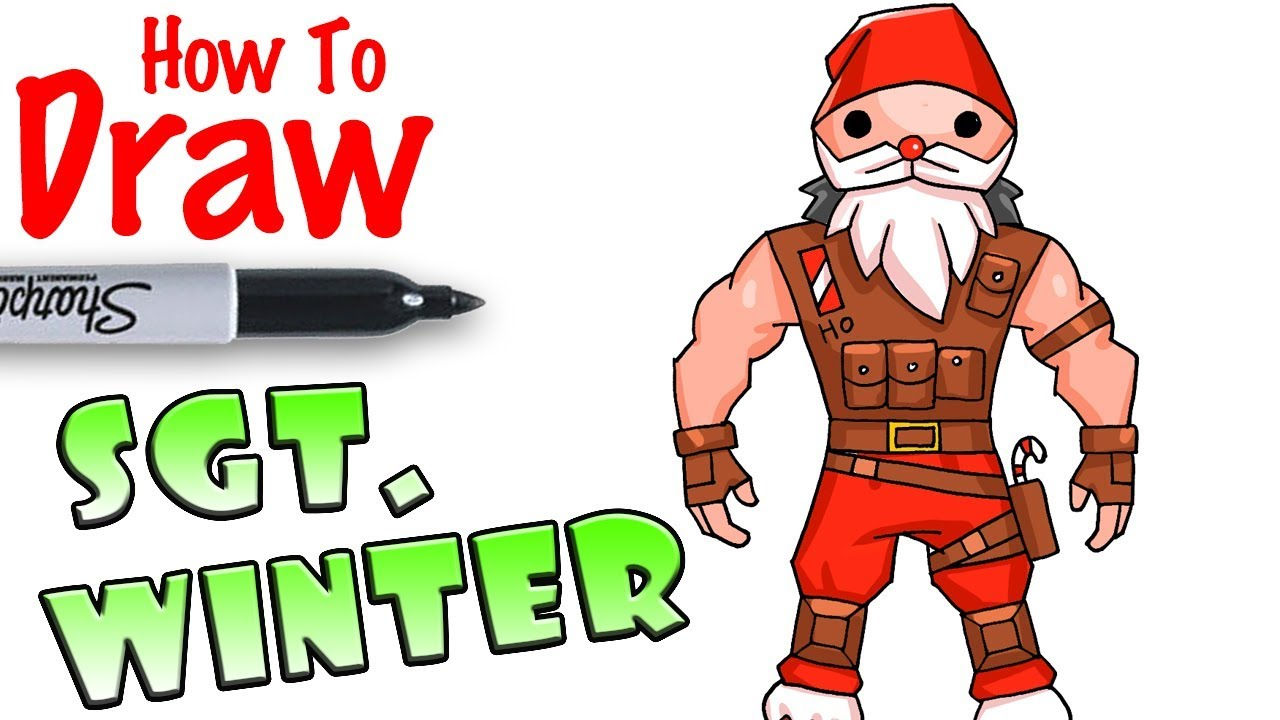 How To Draw Sgt Winter Fortnite Youtube