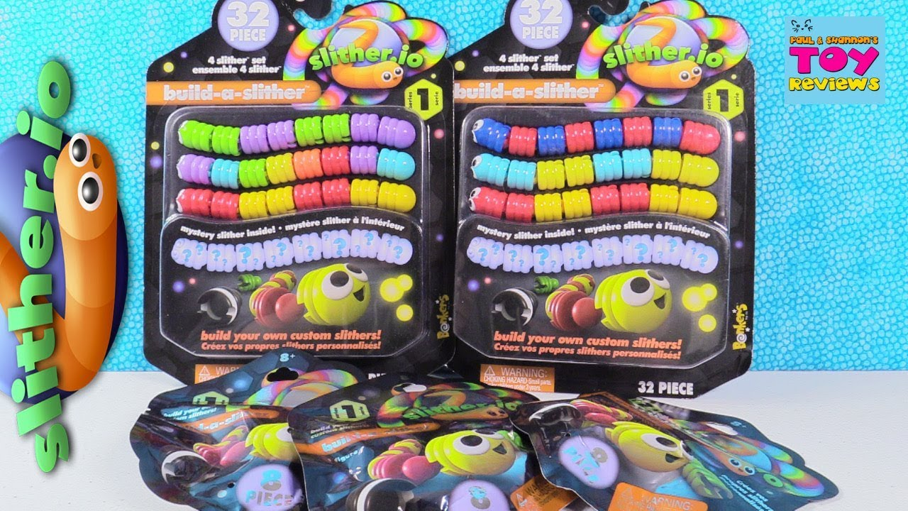 SLITHER.IO Build-a-Slither Series 1 32 Piece//set