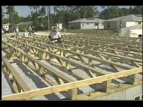 What is a raised wood floor foundation youtube for How to build a floor for a house