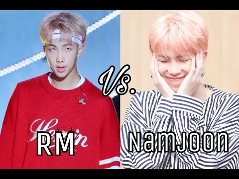 RM Vs. Namjoon (Kim Namjoon's Duality)