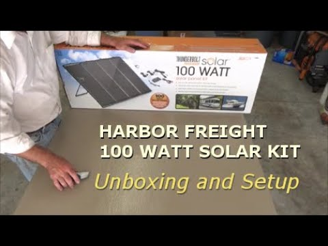 Harbor Freight 100 Watt Solar Kit Unboxing And Setup Youtube
